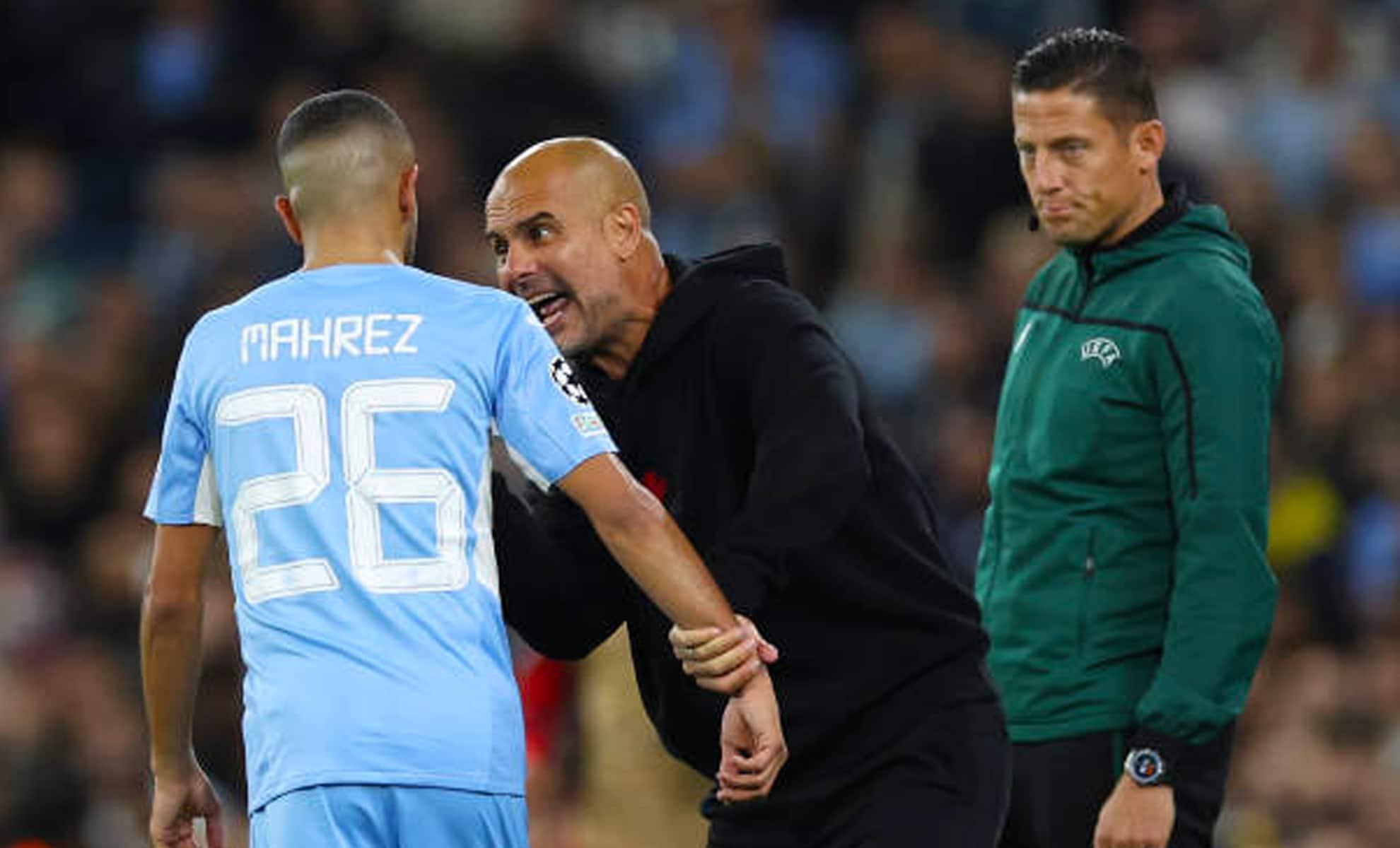 Riyad Mahrez sévèrement corrigé par son coach Pep Guardiola